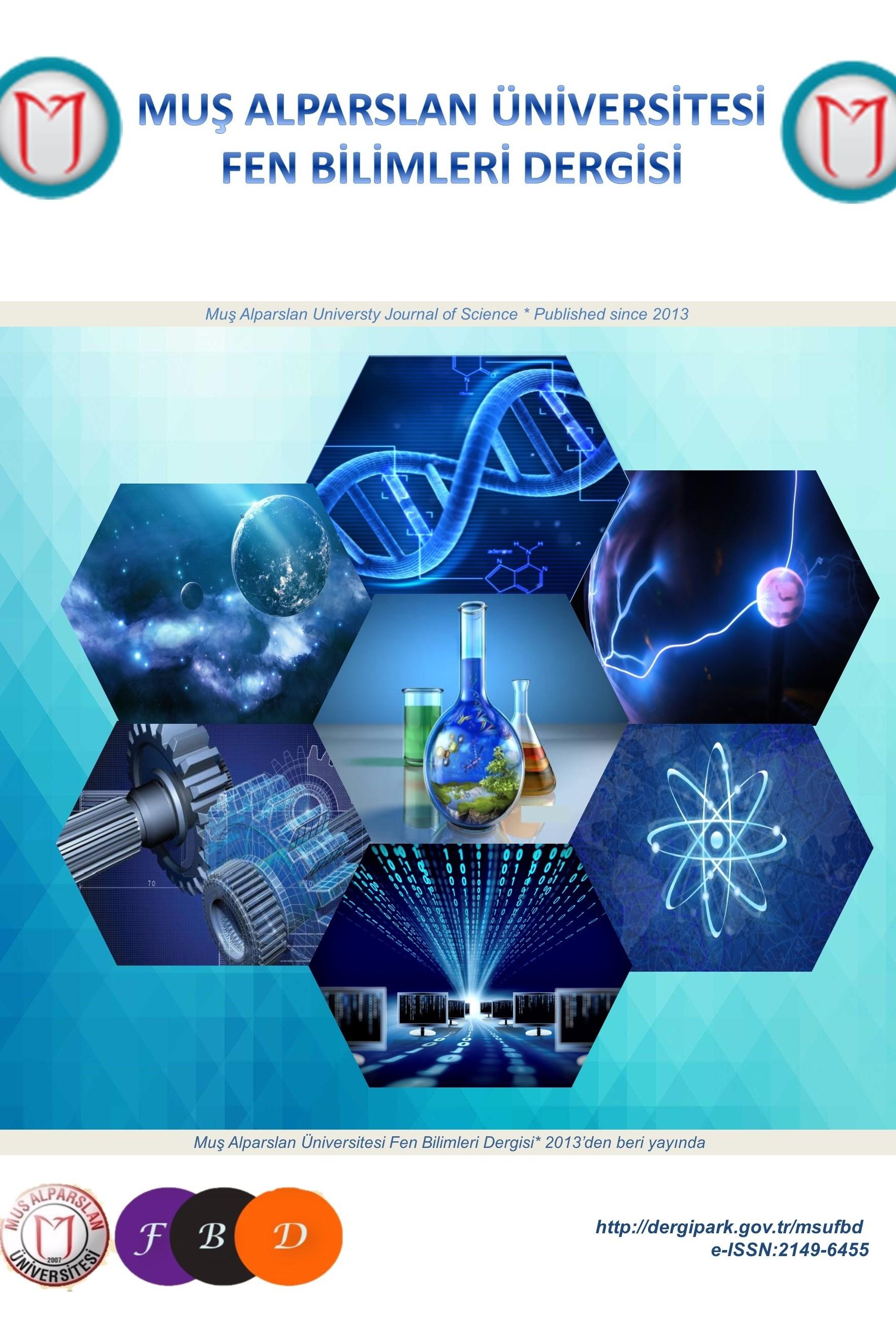 Muş Alparslan Üniversitesi Fen Bilimleri Dergisi