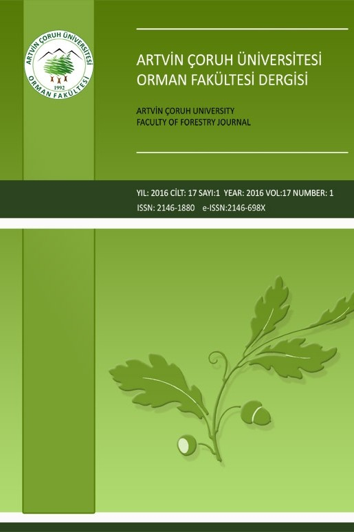 Artvin Coruh University Journal of Forestry Faculty