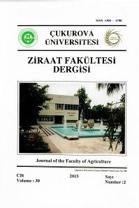 Çukurova University Journal of the Faculty of Agriculture