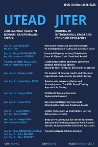 Journal of International Trade and Economic Researches