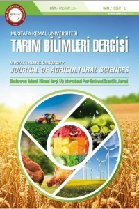 Mustafa Kemal Üniversitesi Tarım Bilimleri Dergisi
