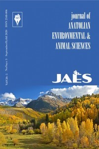 Journal of Anatolian Environmental and Animal Sciences
